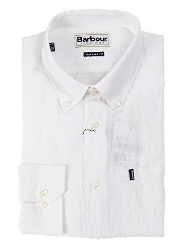 Barbour BACAM2227 WH11 Hemd für Herren, Weiß Large