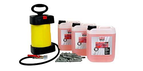 Horizontalsperre Set | 3 x 5 Liter OELLERS Diffusil + Injektionspumpe + Injektionspacker | Verkieselung schnell und sicher | für ca. 3 lfdm Wand