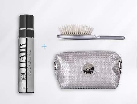 SKIN RESEARCH LABORATORIES NeuHair Kit de Edición Limitada NeuHair + Cepillo de Secado+Neceser Espuma para conseguir un cabello más Fuerte, más Grueso y Denso 80 ml