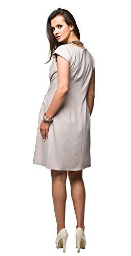 Elegantes Umstandskleid, Abendkleid, Brautkleid, Hochzeitskleid für Schwangere, Modell: Mirabel, Cappuccino - 2