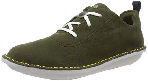 Clarks Damen Step WeltFree. Sneaker, Grün (Khaki Khaki), 40 EU