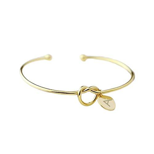 Armband met geknoopte armband voor dames, type en mouw, 26 Engelse armband van het alfabet