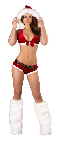 Roma Costume Women's 4 Piece Santa's Little Hohoho, Red/White, Small/Medium