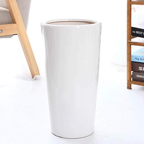 PLL eenvoudige vloer hoge sectie slanke bloempot keramische witte woonkamer binnen en buiten persoonlijkheid creatieve keramische bloempot