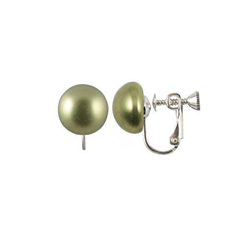 Design con perle Swarovski, colore: Verde chiaro a perno in argento, chiusura a Clip, con confezione regalo