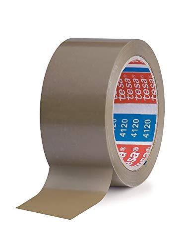 Tesa 4120 banden voor het sluiten van dozen, PVC, houder, natuurlijk rubber, 49 μm, 66 m x 50 m, Avana, 36 stuks