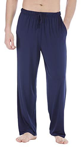 GYS Men's Lounge Pants Bamboo Sleep Pants, Navy, Small