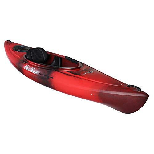 Old Town Heron 9XT Recreational Kayak, Black Cherry, 9 Feet 6 Inches