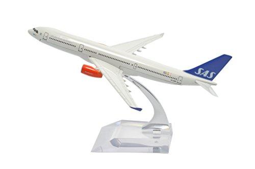 TANG DYNASTY (TM) 1: 400 16 cm Air Bus A330 Scandinavian Airlines SAS de metal avión modelo de avión