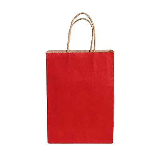 Jia HU Lot de 15 sacs en papier Kraft de qualité avec poignées de stockage Sac cadeau Large pour chaussures de courses fête 25*11*36cm vert foncé
