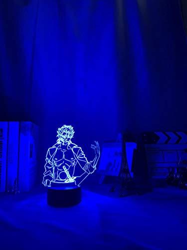 Lámparas decorativas para exterior Anime Bleach Grimmjow Jaegerjaquez Luz de noche Led para decoración de dormitorio Lámpara de luz nocturna Regalo de lejía Acrílico Neón Lámpara 3d Grimmjow DUYAO00