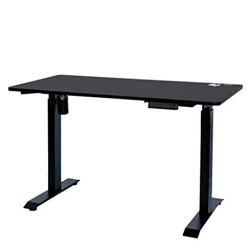 ErgoMax Electric Height Adjustable Single Motor Desk Frame w/Tabletop, 45.25 Inch Max, Black