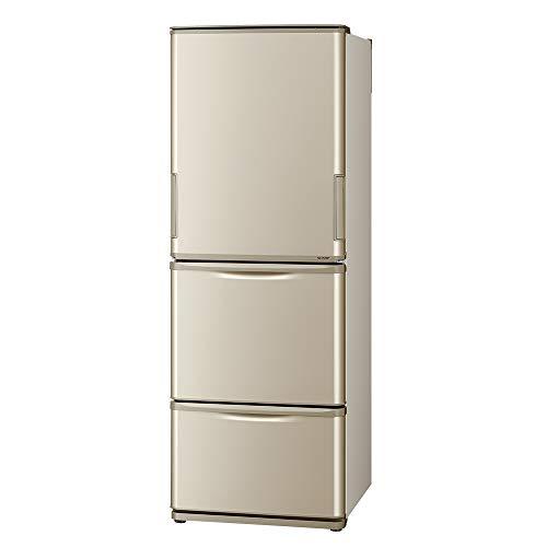 シャープ SHARP 冷蔵庫(幅60.0cm・スリムタイプ) 350L 両開き 3ドア ゴールド SJ-W353G-N