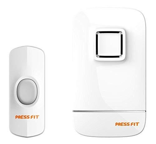 Press Fit Plastic Echo-IV Auto-Learning Wireless Door Bell, Standard, White
