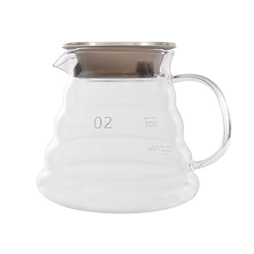Caraffa da caffè in vetro trasparente, teiera 650 ml Transparent