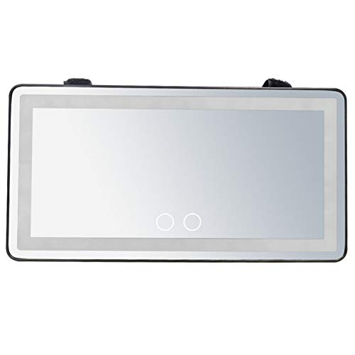 Car Visor Mirror, Car Makeup Mirror with 60 LED Lights, Makeup Travel Vanity Mirror, Car Cosmetic Mirror Clip On Sun Visor, 3 Lighting Mode, Rear Sun Visor Mirror