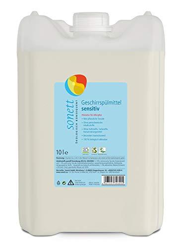 Detersivo per lavastoviglie sensibile: senza profumi, coloranti, conservanti.