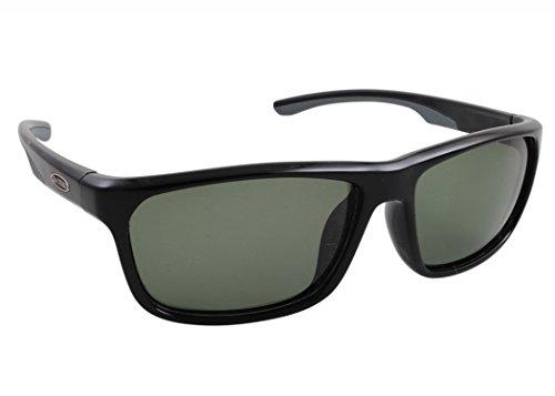 Sea Striker Keeper - Gafas de sol polarizadas, color negro brillante, gris sólido, talla única