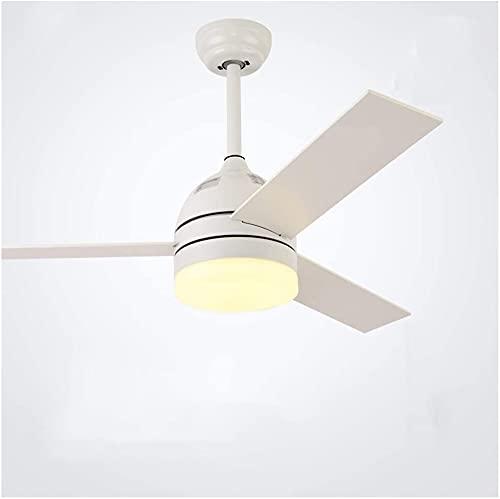 Ventilatore a soffitto con soffitto a soffitto Lampade a soffitto Lampade a ventilatore moderno Ventilatore Telecomando Ventilatore Illuminazione Sala da pranzo Camera da letto Ristorante LED Lampadar