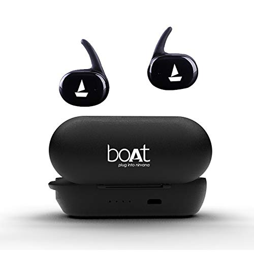 boAt Airdopes 211 Portable True Wireless Earbuds with Stylish Charging Case (Active Black)