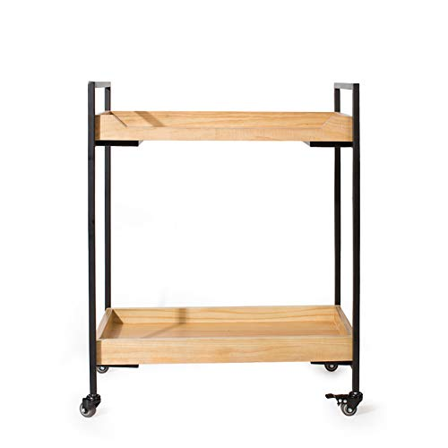 Hotel Dining Car, Sideboard Home Kitchen Rack Storage Rack Wine Cart with Wheels, Multi-Function Shelves(654081cm)