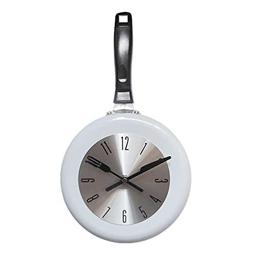 Freying sartén patrón Colgando Pared Arte decoración Reloj de Pared 8 Pulgadas Estilo Vintage Novedad Arte decoración de la Pared Reloj para la Cocina Sala de Estar Dormitorio decoración de Oficina