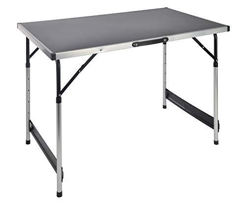 Table de camping en aluminium réglable en hauteur - réglage 4 Hauteurs (73, 80, 87 et 94 cm) - 100 x 60 cm pratique pliable