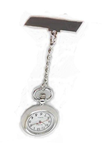 NURH Reloj Enfermera de Acero Plateado.Movimiento y BATERIA JAPONES 1ª Calidad. Puede SER Grabado SIN Coste (Dejar Mensaje AL Vendedor).