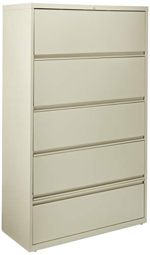 Lorell LLR43516 Receding Lateral File with Roll Out Sleeves, Putty