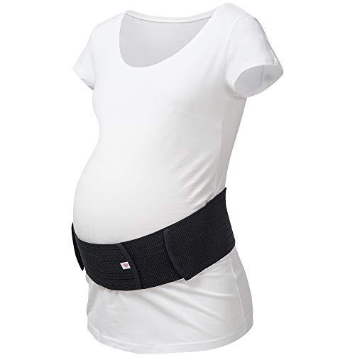Herzmutter Bauchgurt-Schwangerschafts-Stützgürtel-Bauchband - größenverstellbarer Schwangerschaftsgurt - Bauchgurt Schwangerschaft - Gymnastik-Yoga-Sport - 3200 (S-M, Schwarz)