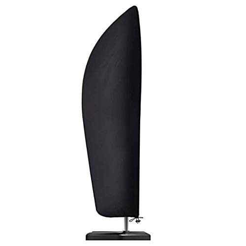 PFativant Funda protectora para sombrilla de 3 m, resistente a la intemperie, tejido Oxford 210D, resistente al agua, al polvo y a los rayos UV, color negro