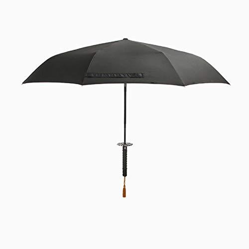 BAJIE Paraguas Plegable, Paraguas automático Plegable para Hombre, Paraguas Femenino, a Prueba de Viento, Creativo para Mujer, para Coche, Parasol Grande