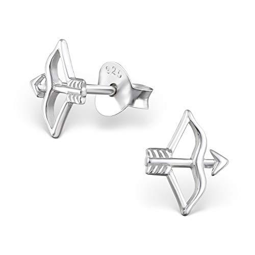 The Rose & Silver Company Women 925 Sterling Silver Arrow Stud Earrings