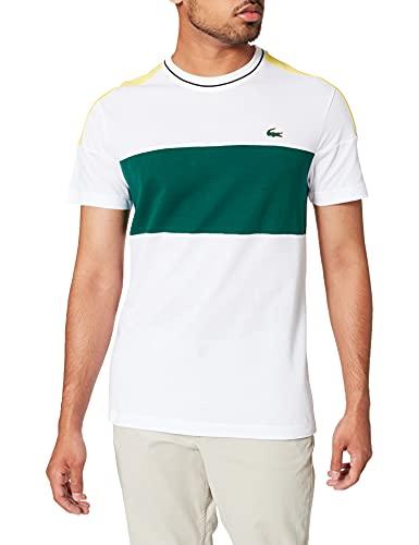 Lacoste TH6940 Tee-Shirt, Blanc/Swing-Daphne-Noir, M Homme