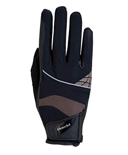 Roeckl Sports Handschuhe Modell Montreal, Unisex Reithandschuh, Schwarz/Mokka 11