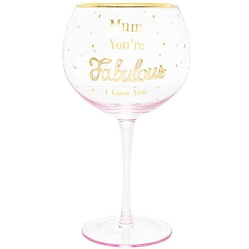 Mamá Youre Fabulous - Copa de ginebra tintada en color rosa