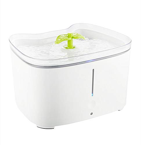 Twnhmj hond kat fontein huisdier waterdispenser anti-droge automatische slimme nacht modus drielaags filtratie en ultrastille pomp