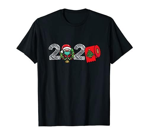2020 Navidad - Divertida máscara de papel higiénico Santa Camiseta