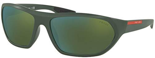 Prada LINEA ROSSA 0PS 18US Gafas de sol, Matte Green/Green, 65 para Hombre