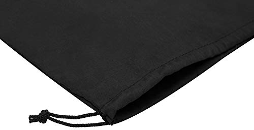 Cotton Blend Drawstring Bags 6-Pack For Storage Pantry Gifts (14 x 17 inch - 6 pack, Black)