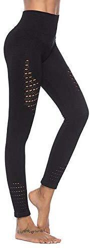 1 Stks Vrouwen Hoge Taille Naadloze Yoga Broek Leggings Stretchy voor Hardlopen Sport M Zwart