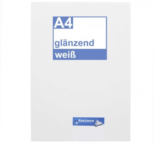 Klebefolie 10 x DIN A4 weiß glänzend - Druckerfolie, klebend, zum bedrucken, Wetterfest, Wasserfest für Laserdrucker, Outdoor A