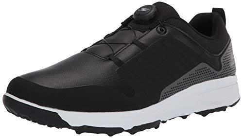 Skechers Men's Torque Twist Waterproof Golf Shoe, Black/White, 9.5 W US