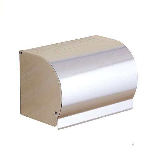 CHUTD Toilettenpapierhalter Wasserdicht Wandeinbau Raum Aluminium Drahtziehen Finish Mit Deckel Rostfrei Badezimmer Toilettenpapierrolle/Tissue Holder
