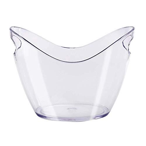 SJYDQ Cubo de Hielo Lingote de plástico Transparente Cubo de Hielo Cubo de champán Cerveza Hielo Grande Barril de Vino Cubo de Hielo Bar Comercial (Color : A)