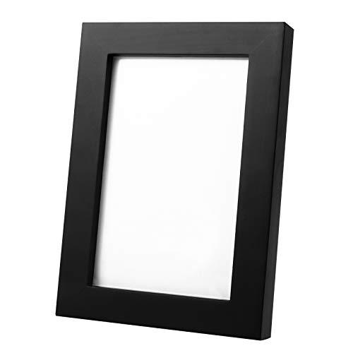 FENRIR Bilderrahmen Foto - 10x15cm - schwarz - hochwertiges Glas - Holzrahmen - Fotorahmen - 2 Stück