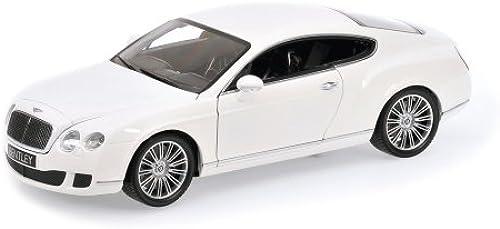 Minichamps 100139621 - Bentley Continental GT, Ma ab  1 18, Weiß