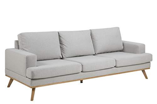 Amazon Brand - Movian Rotsee - Sofá de 3 plazas, 92 x 231 x 81 cm (largo x ancho x alto), gris claro (tapizado Stuart)