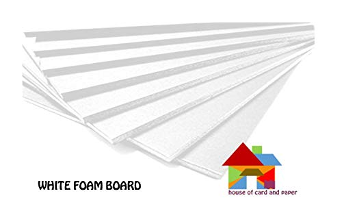 Elmers//X-Acto 950021 Foamboard White 11-Inch x 14-Inch x .1875-Inch 4//Pack