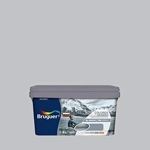 BRUGUER Pintura PLÁSTICA Colores Mundo ESCANDINAVIA Gris Suave 4 L, Negro, 4 litros